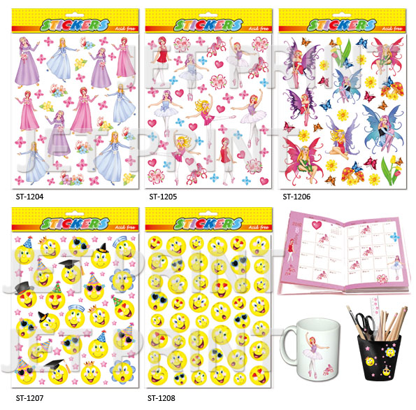 PVC, PVC Sticker,Ballet, Princess, Smile, Fairy