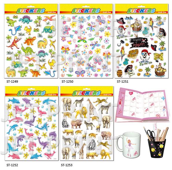 PVC, PVC Sticker,dinosaur, butterfly, flower, pirate, dolphin, giraffe, Elephant